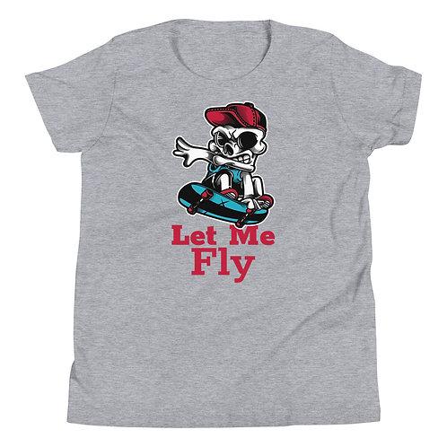 """Skull Let Me Fly"" Youth Short Sleeve T-Shirt"