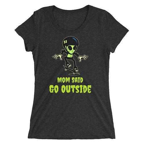 """""""Alien Skate"""" Ladies' short sleeve t-shirt"""