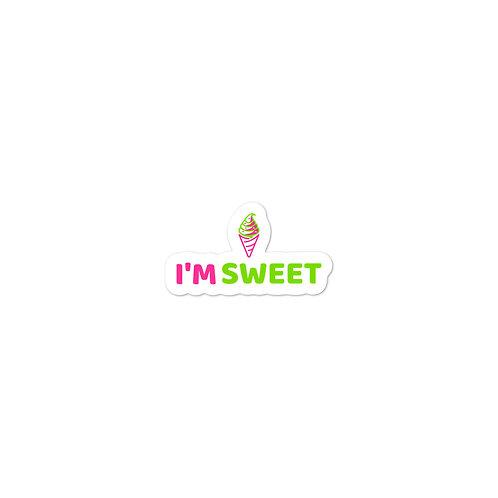 """I'm Sweet Ice Cream"" Bubble-free stickers"