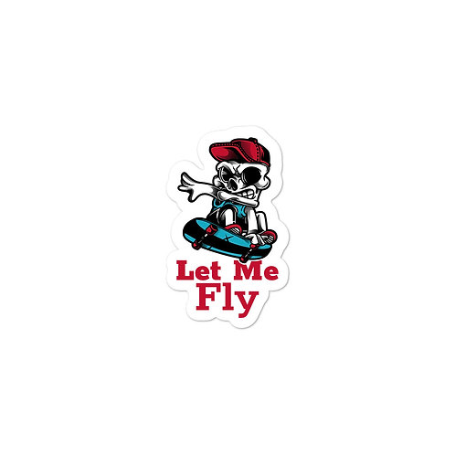 """""""Skull Fly High Skate"""" Bubble-free stickers"""