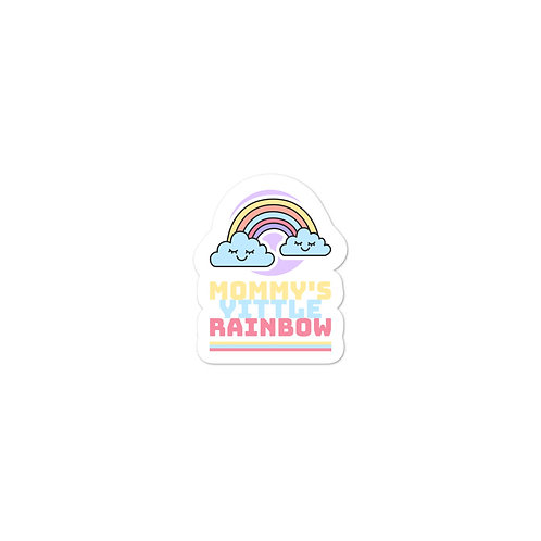 """Mommy's Yittle Rainbow"" Bubble-free stickers"