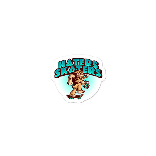"""""""Haters Skaters"""" Bubble-free stickers"""