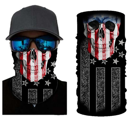 Premium American Flag Skull Neck Gaiter