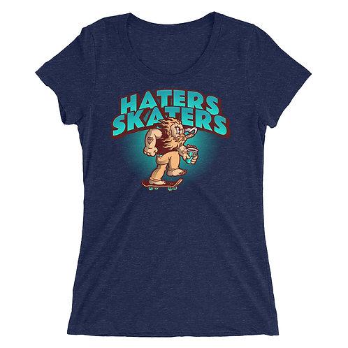 """Haters Skaters"" Ladies' short sleeve t-shirt"