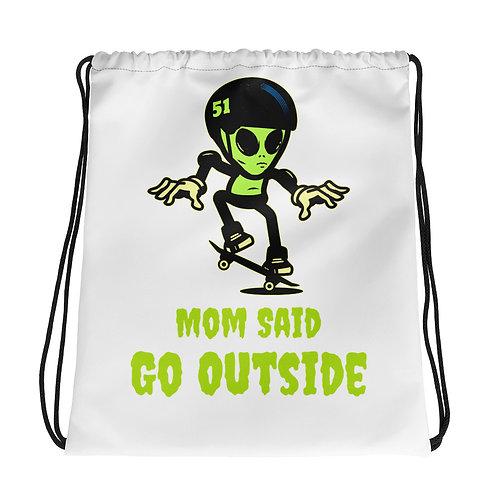 """""""Alien Skate"""" Drawstring bag"""