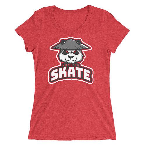"""Kung Fu Skate"" Ladies' short sleeve t-shirt"