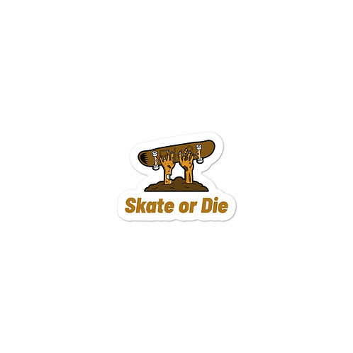 """Zombie Skate or Die"" Bubble-free stickers"