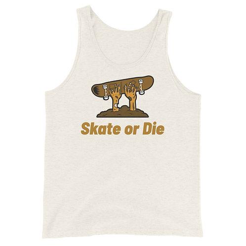 """""""Skate or Die Zombie"""" Unisex Tank Top"""