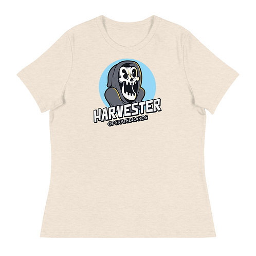 """Harvester of Skateboards Skull"" Women's Relaxed T-Shirt"