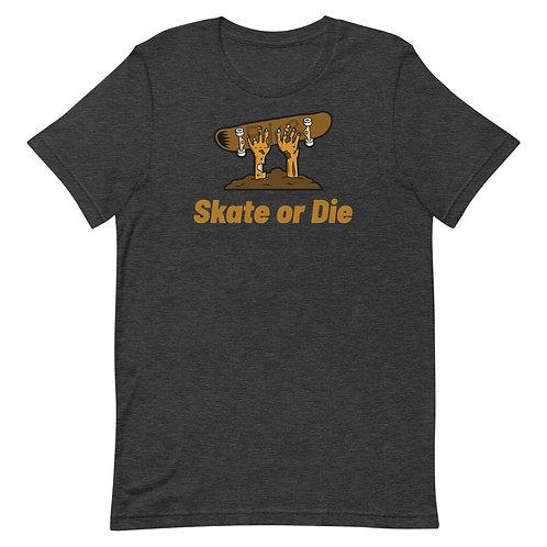"""""""Skate or Die Zombie"""" Short-Sleeve Unisex T-Shirt"""