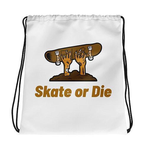 """""""Zombie Skate or Die"""" Drawstring bag"""