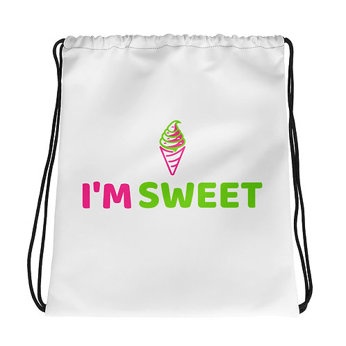 """I'm Sweet Ice Cream"" Drawstring bag"