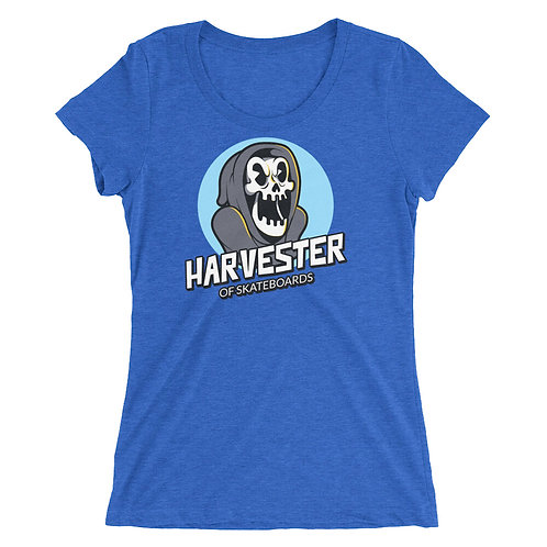 """""""Harvester of Skateboards"""" Ladies' short sleeve t-shirt"""