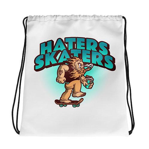 """Haters Skaters"" Drawstring bag"