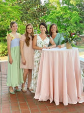 Bridal Dinner on the Front Porch