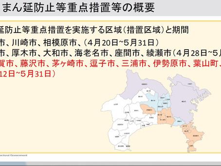 新型コロナウイルス感染症対策 まん延防止等重点措置区域に伊勢原市も追加