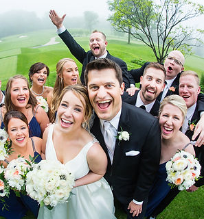 Fun-Bridal-Party-Portrait-Overbrook-Golf