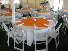 Simple Tent Table Sets