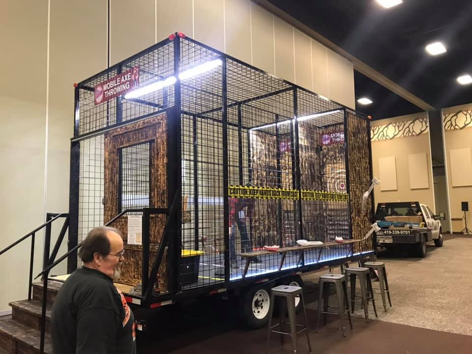 Mobile Axe Throwing Trailer at OPRA 2019 Conference