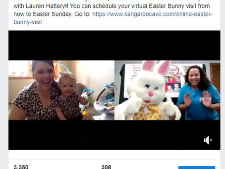 Virtual Bunny Visits Celebrate the Easter Holiday During COVID-19