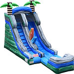15ft Tropical Single Lane Water Slide-2.
