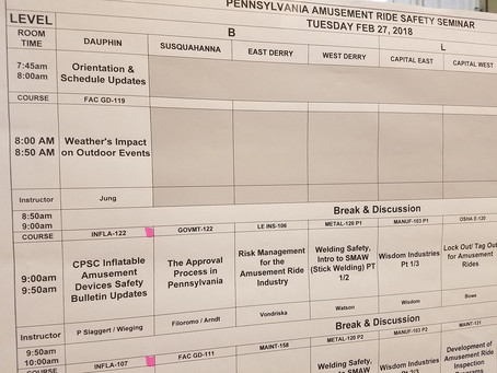 Safety Updates at PA Ride Safety Conference