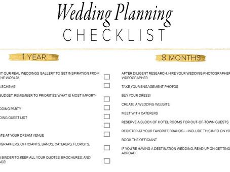 Wednesday Wedding Blog- Checklists