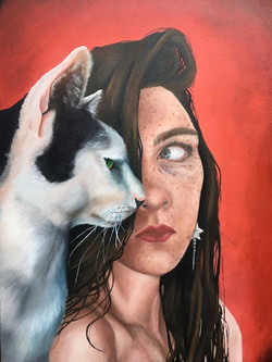 SELF PORTRAIT WITH CAT