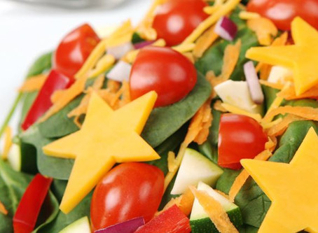Salada infantil para o Natal