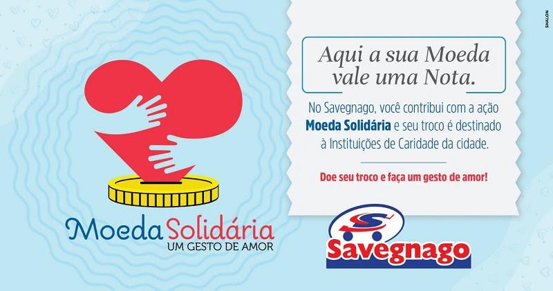 LEGENDA: Arte da ação Moeda Solidária.
