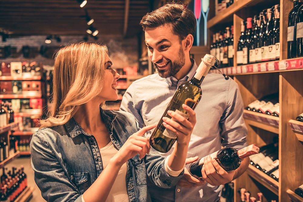 Como escolher um bom vinhupermercados