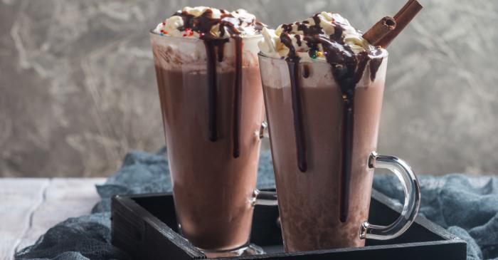 Milkshake de creme de avelã