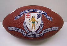 Hand painted sports balls as Military gifts