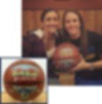 Handpainted basketball award