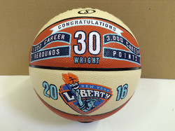 Basketball design for career records