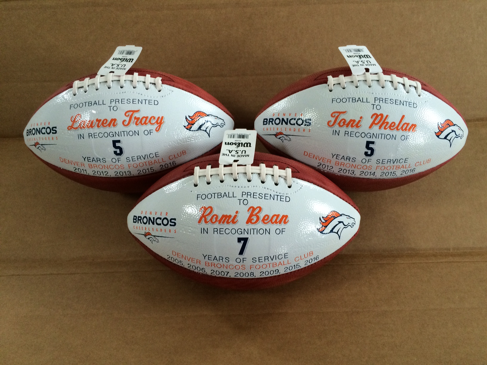 NFL Denver Cheerleader gift balls