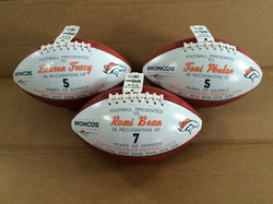 NFL Denver Cheerleader gift balls