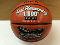 1000 point Hand Painted Basketballs