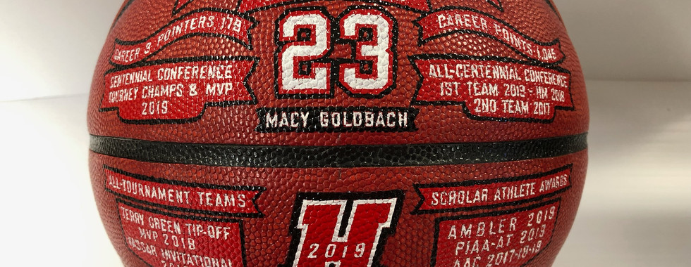 Decorated Basketballs
