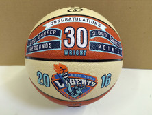 hand painted basketball