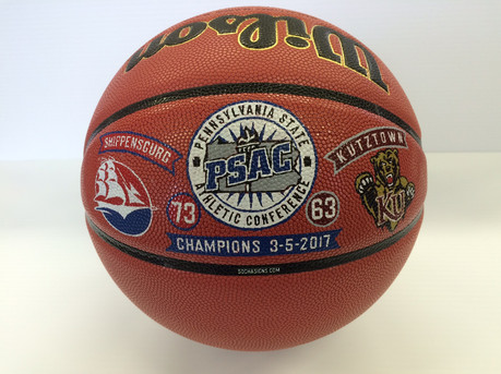 Decorated Championship Basketballs