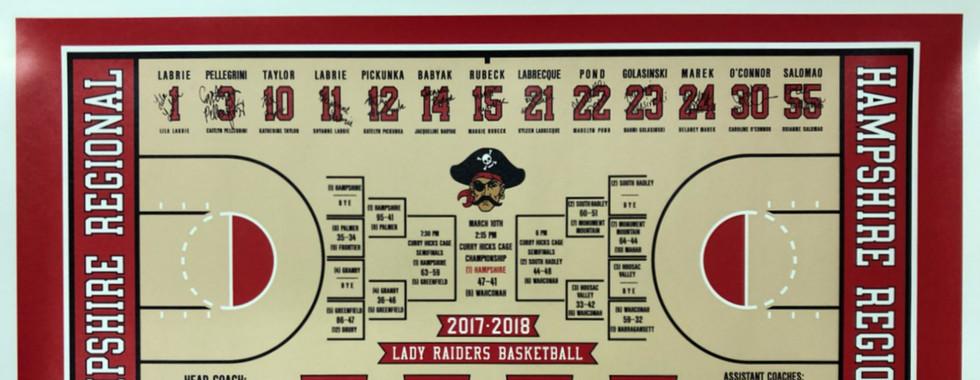 Basketball Team Posters- Custom