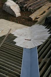 Lubiņu jumta sateknes veidošana