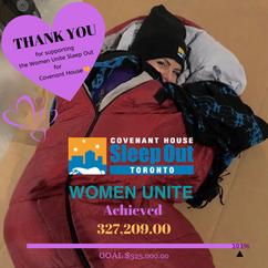 Women Unite Sleep Out Toronto