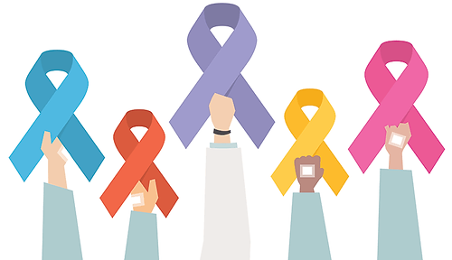 illustration of cancer awareness ribbons