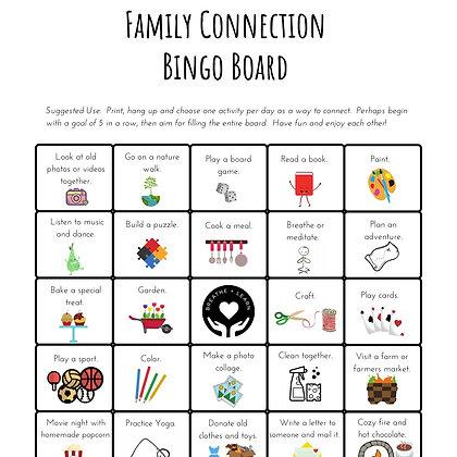 Family Connection Bingo Board