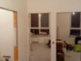 вид из хола на 2 комнаты под чистовую отделку ремонт