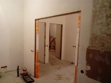 коридор под чистовую отделку,вид из 2 комнаты