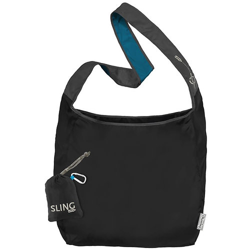 Sling rePETe Storm - Black Cross Body Bag