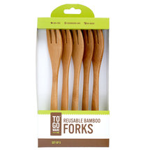 Reusable Bamboo Forks (5) PK